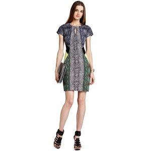 BCBG Snakeprint Colorblock Dress